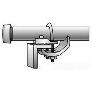 """OZ Gedney CTC-0507 Cable Tray Clamp, For Rigid, IMC & EMT, 1/2"""" - 3/4"""", Malleable Iron"""