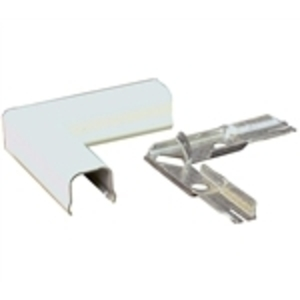 Wiremold 711WH Raceway 90° Flat Elbow, Steel, White, 700 Series