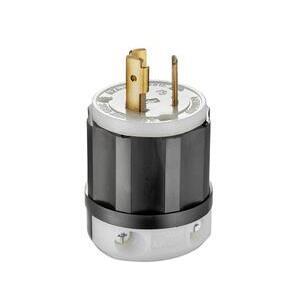 Leviton 2321 Locking Plug, 20A, 250V, L6-20P, 2P3W
