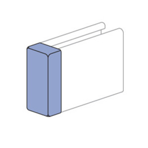 Unistrut P2860-50-VY Channel Safety End Cap, For Use With P5000 and P1001 Channel, Plastic