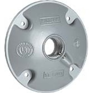 "Hubbell-Killark VJH-2 Hub Cover 3/4 X 1"" / Mtg Scrs"
