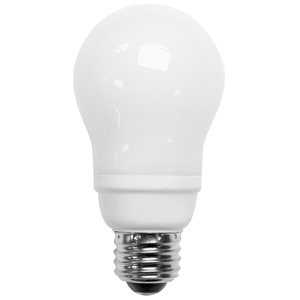 TCP 2131451K Compact Fluorescent Lamp, 14W, A19