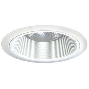 "Juno Lighting 24-WWH Tapered Baffle Trim, 6"", White Baffle/White Trim"
