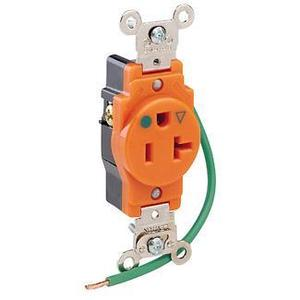 Leviton 8310-OIG 20 Amp, 125 Volt, Narrow Body NEMA 5-20R, Orange