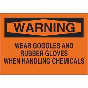 22377 CHEMICAL & HAZD MATERIALS SIGN