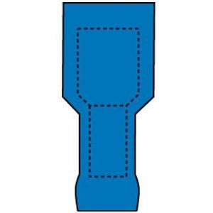 3M MTI14-250L Male Tab, Nylon-Insulated, WR: 16 - 14,  Mates with 0.25-in wide female tab *** Discontinued ***