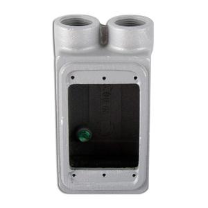 """Appleton FSS175 FS Device Box, 1-Gang, Dead-End, Type FS, 3/4"""", Malleable Iron"""