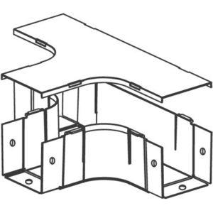 "Panduit FT4X4LG Fitting, Horizontal Tee, 4"" x 4"" (100mm"