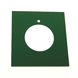 Allen-Bradley 800H-Y136E Custom Engraved Nameplate, 30MM, Green, Plastic, Standard, 800H