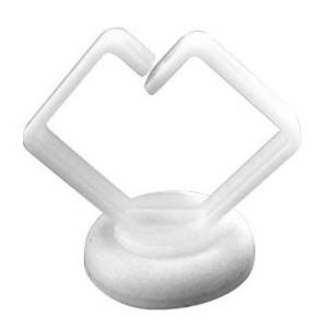 """Rack-A-Tiers RM075WT Magnetic Cable Holder, 10 lb, 3/4"""", White, 10 Pack"""