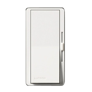 Lutron DVCL-253PH-WH Dimmer, Diva, CFL/LED/Incandescent/Halogen, 250/600W
