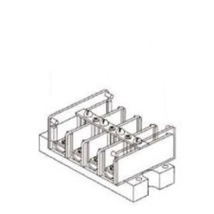 GE IKU2S Terminal Block, 2-Pole, Shorting Without Cover, 18 - 10 AWG