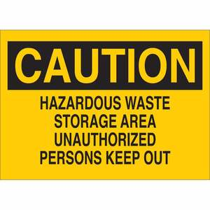 22710 CHEMICAL & HAZD MATERIALS SIGN