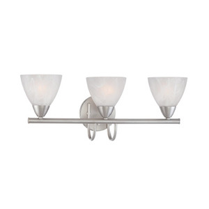 Thomas Lighting 190017117 Bath Light, 3-Light, 100W, Matte Nickel