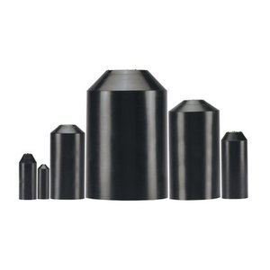 Panduit HSEC1.5-5 Heat Shrink End Cap, Adhesive Lined, Ratio: 2.5:1, 600V, Black