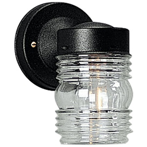 Progress Lighting P5602-31 Wall Lantern, Outdoor, 1-Light, 75W, Black