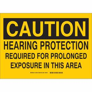 33656 B302 SAFETY SIGN 10X14 BLK/YEL