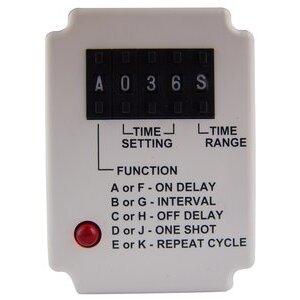 Square D 9050JCK70V20 Relay, Timer, 10A, 240VAC, 120VAC Coil, 11 Pin, 2PDT, Multi Mode