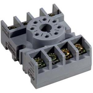 Square D 8501NR51B Relay, Socket, 8 Pin, 15A, 300VAC, DIN Rail Mount, Screw Clamp