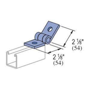 Unistrut P1843W-EG Adjustable Hinge Connector, 2-Hole, Steel/Electro-Galvanized
