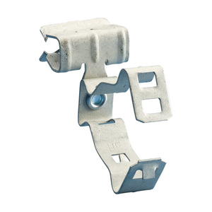 "Erico Caddy 812M24SM Flange Mount Conduit Clip, Type: Snap, 1/2 to 3/4"" Conduit, Steel"