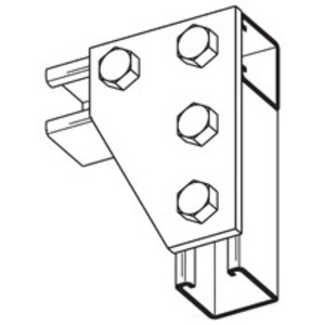 Eaton B-Line B142SS4 FOUR HOLE CORNER GUSSET PLATE, STAINLESS STEEL 304