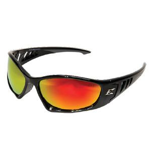 Wolf Peak SBAP119 Baretti Protective Eyewear, Full Frame, Gloss Black Frame/Red Lens