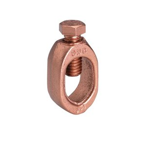 "Burndy GRC12 Ground Rod Clamp, 1/2"", 10 AWG to 2 AWG, Direct Burial Rated"