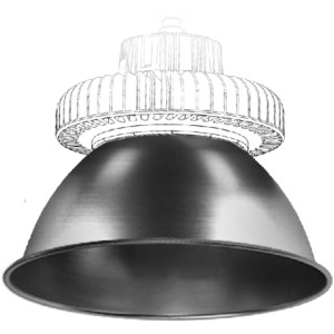LEDtronics HBL005-REFL-90D 90 DEGREE BEAM 14IN ALUMINUM REFLECTOR