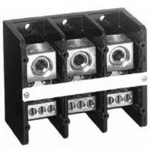 Allen-Bradley 1492-PD3C163 Distribution Block, 380A, 600V AC/DC, 3P, Copper, 1 In/6 Out