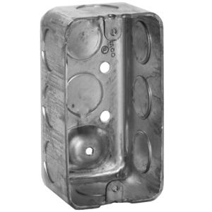 "Appleton 4CS-1/2 Handy Box, 1-7/8"" Deep, 1/2"" KOs, Drawn, Metallic"