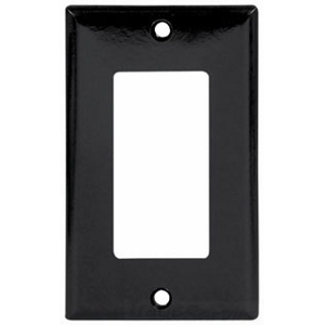 Eaton Arrow Hart 2151BK-BOX Wallplate 1G Decorator Thermoset Std BK