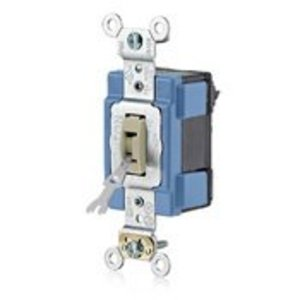 Leviton M1201-L Single-Pole Toggle Switch, 15A, 120/277V, Brown, Modular, Lev-Lok