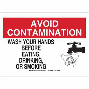 30707 B401 SAFETY SIGNS 10X14 BLK/RED/WH