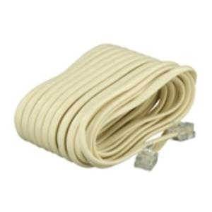 Leviton C2413-25I Modular Line Cord, RJ11 25', Ivory