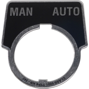 9001KN343 PUSHBUTTON LEGEND PLATE - ALUM