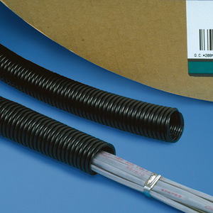 "Panduit CLTS100F-C Corr. Loom Tubing Solid, 1"" (25.4mm) x 1"