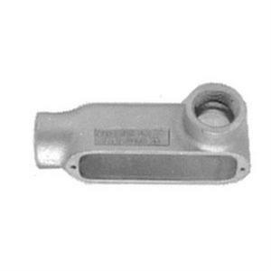 Appleton LR350A Conduit Body, Type LR, 3-1/2 Inch, Aluminum, Threaded