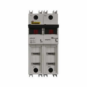 Eaton/Bussmann Series CCP-2-60CF Compact Circuit Protector, 2-Pole, 60 Amp, for Cube Fuses