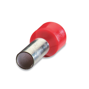 "Thomas & Betts F2030 Insulated Ferrule, 18 AWG, .728"" Long, Tin Plated Copper, Red"