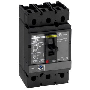 Square D JJL36150 Breaker, Molded Case, 150A, 3P, 600VAC, J Frame, 100kAIC, Lug in/Out