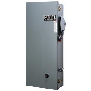 Square D 8940SSC4010V02S Pump Panel, Size 1, 27A, 120VAC Coil, 3P, NEMA 3R, Fusible Disconnect
