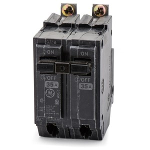 ABB THQB2135 Breaker, 35A, 2P, 120/240V, Q-Line Series, 10 kAIC, Bolt-On