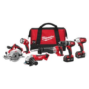 Milwaukee 2696-26 M18 Cordless 6-Tool Combo Kit
