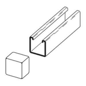 Eaton B-Line B822W PLASTIC END CAP FOR 1 5/8-IN. X 1 5/8-IN. CHANNEL (B22 & B24)