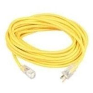 Coleman Cable 1487SW0002 Lighted Extension Cord, 14/3 SJEOW, Yellow, 25'