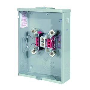 Milbank U7040-XL-TG Meter Base, 200A, 600VAC, 4 Jaw, OH/UG Service, 1PH, Ringless
