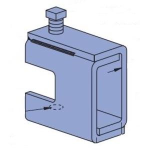 "Unistrut P1651S-HG Beam Clamp, Rod Size: 1/2-13, Max Flange: 7/8"", Steel"