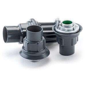 "Perma-Cote PMST-5 PVC Coated Knockout Hub, Size: 1/2"", O-Ring Gasket, Ferrous Metal"