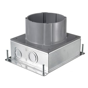 Hubbell-Kellems S1SFB Floor Box, Stamped Steel with Non-Metallic Riser